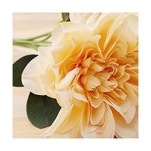 Rekkles 6 Jefe de la Dalia de Las Flores Artificiales Falso Floral de la Boda del Ramo de Novia Que sostiene la Flor…