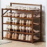 XYCSM Zapatero,Estante de Zapatos de Bambú Natural, Estantería de Zapatos Plegables Organizador de Alenamiento, No para Montar el Shel de Zapatos para Pasillo, Armario, Color de Mad
