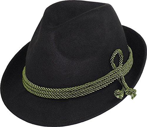 Gustav Müller Kleiner Trachten Hut in 2 Farben (schwarz, 57)
