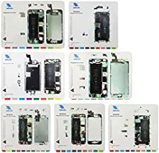 Professional Cell Phone Accessory Kits Compatible with iPhone 6s / iPhone 6 Plus/iPhone 6 / iPhone 5S / iPhone 5 / iPhone 4S / iPhone 4 7 in 1 Magnetic Screws Mat