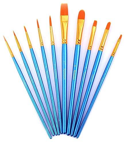 Zhu Ting Paint Brushes, 10pcs Paint Brush Set for...