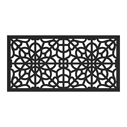 Barrette Outdoor Living 73030565 2'x4' Fretwork Decorative Screen, Black