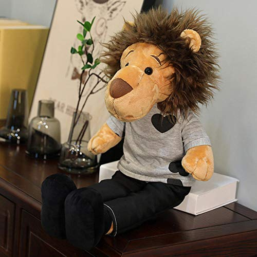 BOIPEEI 1 Pieza 50Cm Dibujos Animados piernas largas Minomi León Juguetes de Peluche Animal de Peluche el Lee Minho King Lion muñeco de Peluche para Regalo para Chico Chica