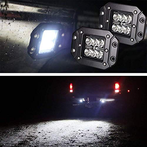 iJDMTOY (2) Dually Flush Mount 24W CREE LED Pod Lights For Truck Jeep Off-Road ATV 4WD 4x4, etc