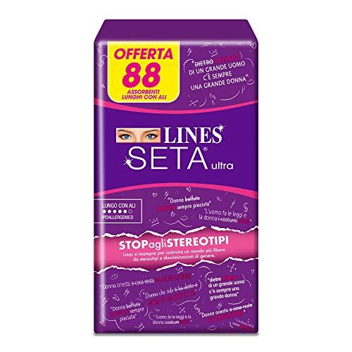 Lines Seta Ultra Lungo con Ali, 88 Assorbenti