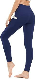 High Waist Yoga Pants, Yoga Pants with Pockets Tummy Control Workout Pants 4 Way Stretch Pocket Leggings