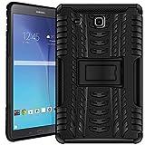 Verco Custodia per Il Samsung Galaxy Tab E 9.6, Outdoor Case Armor Tablet Cover Astuccio (T560 T561), Nero