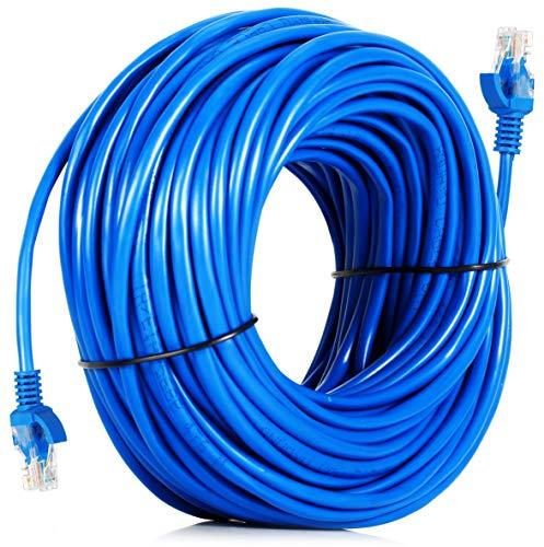 Cabo De Rede com 50 Metros Rj45 Crimpado para Internet Lan Ethernet Cftv Cat5e