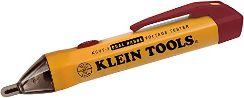 Klein Tools NCVT-2 Non Contact Voltage Tester, Dual Range Pen Voltage Detector for Standard and Low Voltage with 3 m ...