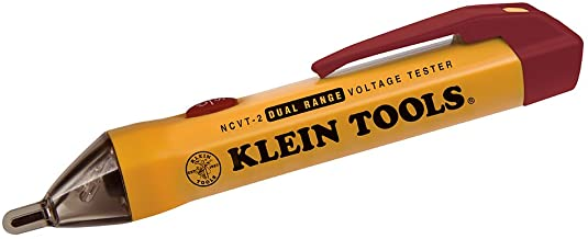 Klein Tools NCVT-2 Non Contact Voltage Tester, Dual Range Pen Voltage Detector for Standard and Low Voltage with 3 m Drop ...