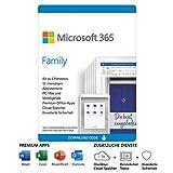 Microsoft 365 Family | 6 Nutzer | Mehrere PCs/Macs, Tablets und mobile Geräte | 1 Jahresabonnement...