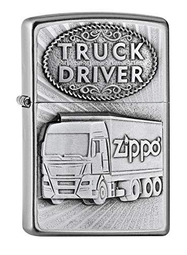 Zippo Feuerzeug Truck Driver DRIVER-205-Zippo Collection 2019-2005895-46,95 €, Silber, smal