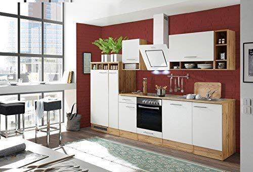 respekta Aneks kuchenny kuchnia blok kuchenny kuchnia do zabudowy kuchnia kompletna 310 cm dąb biały z urządzeniami