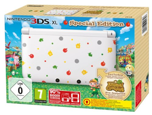 Nintendo 3DS XL  - Konsole, weiß  + Animal Crossing: New Leaf (vorinstalliert) - Limitierte Edition