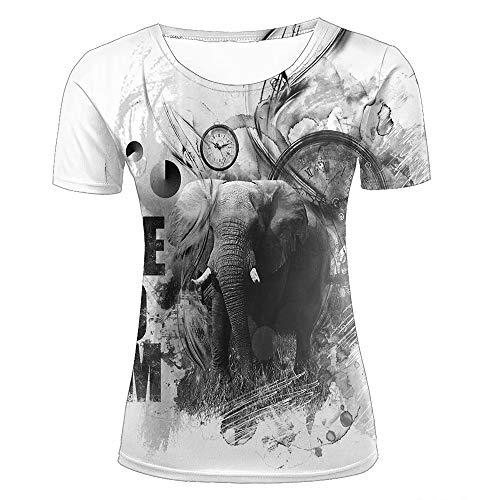 Shuaifa - Camisetas unisex con estampado 3D