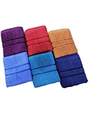 Bombay Dyeing Cotton 40x60 Cms Hand Towel Set - Blue (Set of 6)