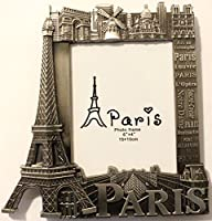 Cadre photo 15x10 cm frame métal Paris Souvenir monument dimension 18x18,5cm