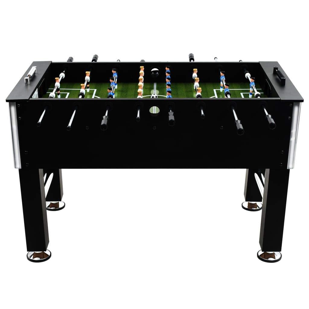 vidaXL Futbolín de Acero 60 kg 140x74,5x87,5 cm Negro Equipos ...