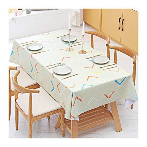 Mantel, impermeable y a prueba de aceite Escritorio de PVC de plástico Mantel rectangular Café y mesa de café Mantel Cocina Sala de estar Fácil de limpiar y duradero (Color: 2 #, Tamaño: 110 * 160 cm)