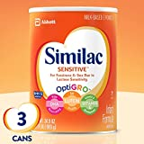 Similac Sensitive Infant Formula with Iron, Powder, One Month Supply,...