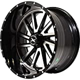 Xtreme Force XF-3 20x10 ET-19 6x139.7 (6x5.5) Black and Brushed