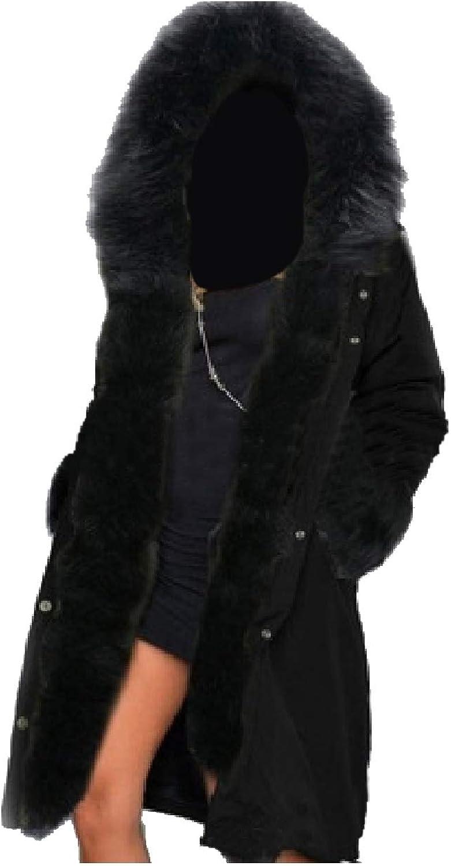 Tootca Women with Faux Fur Hood Brumal Warm Fashion Coats Parkas Jackets