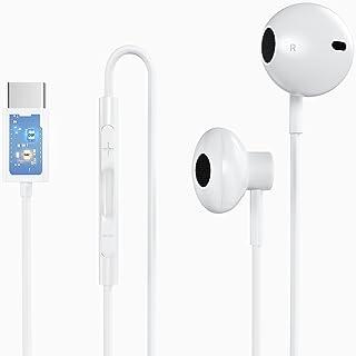 Tamshun USB C سماعة أذن سلكية مزودة بميكروفون للتحكم في مستوى الصوت ، سماعات أذن داخلية للألعاب باس هاي فاي ستيريو مراقب D...