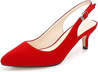 Zapatos rojos mujer con tacon largo o corto para fiestas comodos para la mujer de hoy