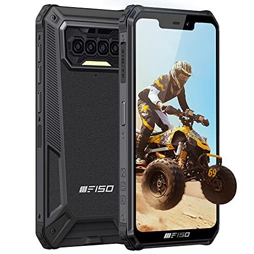 Outdoor Handy, IIIF150 B2021 Outdoor Smartphone Ohne Vertrag, 6GB RAM 64GB ROM, 8000mAh Akku, 4G Dual SIM, IP68 Wasserdichter, Android 10 Handy, 5,86 Zoll, NFC GPS, Face/Fingerprint ID, Schwarz