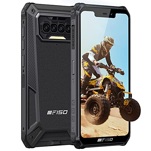 Teléfono Móvil Resistente IIIF150 B2021,Batería 8000 mAh 6GB+64GB,5.86''HD Otto Core Android 10 Impermeable IP68 Rugged Smartphone, Cuatro Cámaras Dual SIM Antigolpes Robusto Movil Baratos Negro