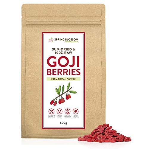 500G 100% Natural Goji Berries from Tibetan Plateau, Large RAW &...