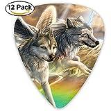 Flying Wolf Guitar Picks Set Paletas Plectrums para guitarristas