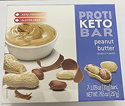 Proti Fit Keto Bariatrix Peanut Butter Bar - 10g - Low Carb - Keto Diet - Weight Loss Snack Bar for Healthy Diets, Hunger Control, Appetite Suppressant,7 Count (1.09 OZ NET Weight 7.65 OZ)