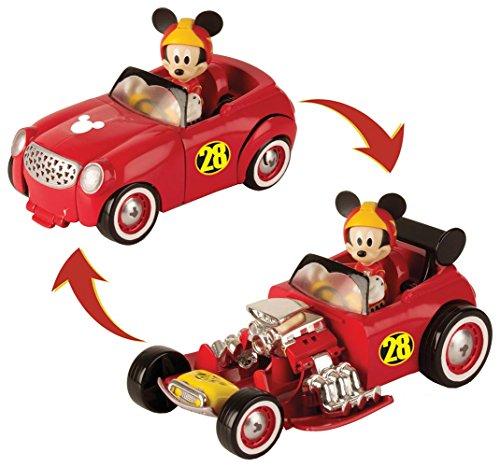 IMC Toys Amici del Rally Mickey Veicolo Trasformabile di Topolino, Colore Rosso, 182813