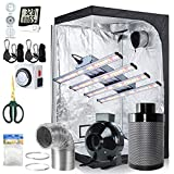 BloomGrow 1200W LED Full Spectrum Professional Grow Light Strips + 48''x48''x80'' 600D Mylar Grow Tent Room + 6'' Inline Fan Air Carbon Filter Ventilation System Indoor Plan t Grow Tent Complete Kit