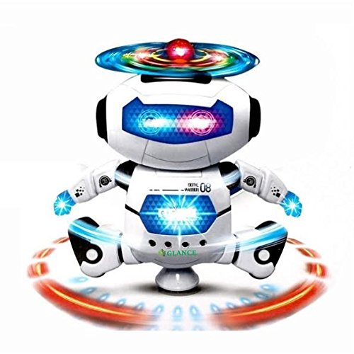 Glance Best Musical and Naugty Dancing Robot, White/Blue