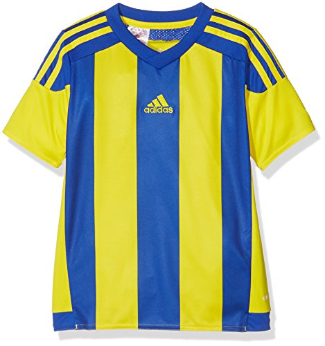Adidas Striped 15 Camiseta de Manga Corta, Hombre, Yellow/Bold Blue, M