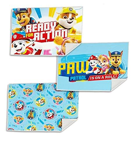 Set 3 x Kinder Gästetuch Handtuch Gesichtstuch Seif Tuch Waschlappen 40x30 cm Mikrofaser (Paw Patrol)