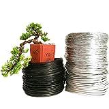 TOMHY Haciendo conformación plástica con Bonsai Alambre de Aluminio Suave para Bonsai Modelado Tira horticultura Aluminio Negro: 6mm Negro