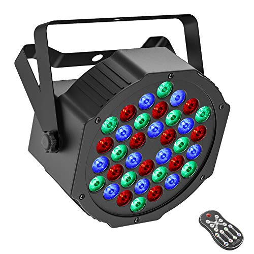 Disco Stage Party Light Voll Multi Color Cristal Stage Ball Effekt Projektor 24 Patterns Fernbedienung Music Activated For Home DJ Pub Bar Club ZHANMA B/ühnenbeleuchtungs