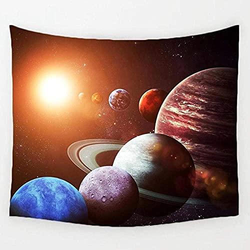 LLXJLUCKY Tapiz del Sistema Solar Tapiz para Colgar en la Pared Impreso Tapiz de poliéster - 130X150CM