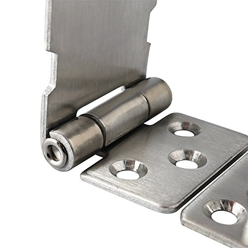 Product Image 6: Alise MS9-3A Padlock Hasp Door Clasp Hasp Lock Latch SUS 304 Stainless Steel Brushed Nickel