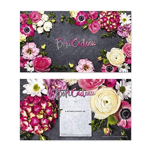 25 Bons cadeaux de haut niveau avec des motifs pour fleurs fleuristes boutiques de fleurs. Recto à haute brillance. BL1248F