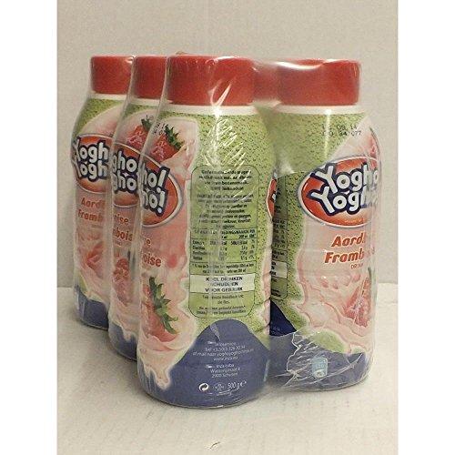 Yogho Yogho Joghurt-Drink, Erdbeere Himbeere, 6 x 500g PET-Flaschen (aardbei framboos)