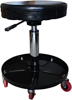 GFYWZZ Portable Djustable Rolling Stool with Tool Tray, Black