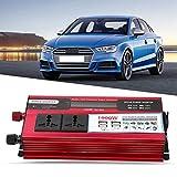 WYZXR Auto-Wechselrichter, Fahrzeugadapter LCD Digital 1000W Auto-Wechselrichter USB-Ladegerät...