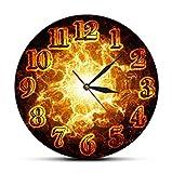 Reloj de Pared de Fuego Moderno de apagón Decorativo Infern