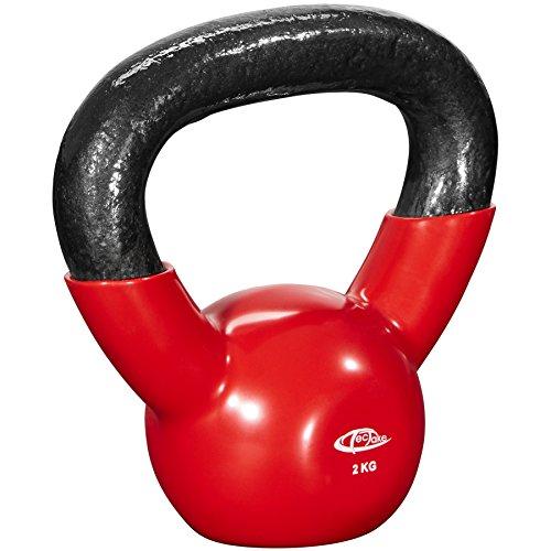 TecTake Pesa rusa Kettlebell peso redondo | Pesa de hierro fundido | Revestimiento de vinilo antiadherente - varios modelos - (2kg | No. 402622)