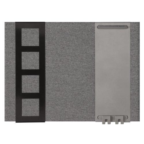Quartet Pizarra Magnética, Plástico, Gris, 58x2x43 cm