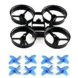 kingtoys Drone Pezzi di Ricambio Eliche Props con Telaio e Blade per JJRC H36 Eachine E010 Micro Drone,...